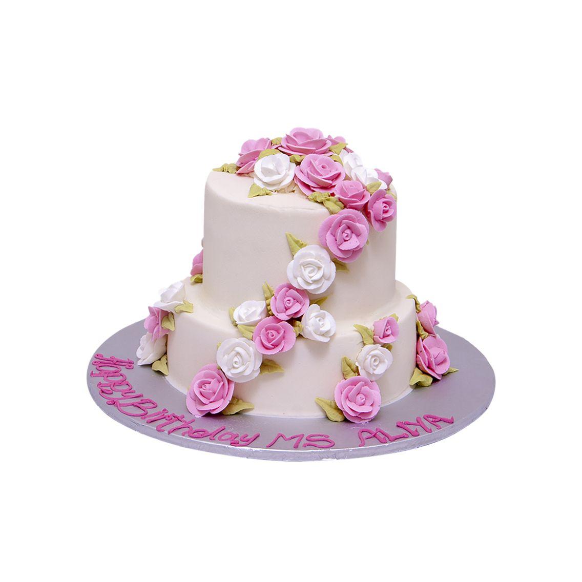 Kitchen Cuisine Default Category Pink & White Flower Cake