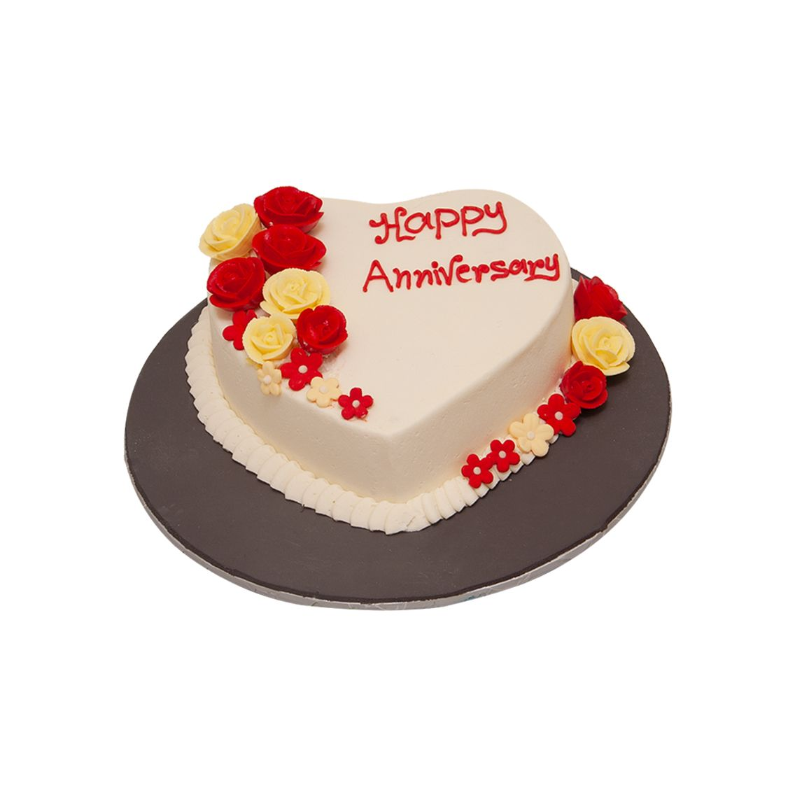 Kitchen Cuisine Default Category Heart Shape with Flowers Cake
