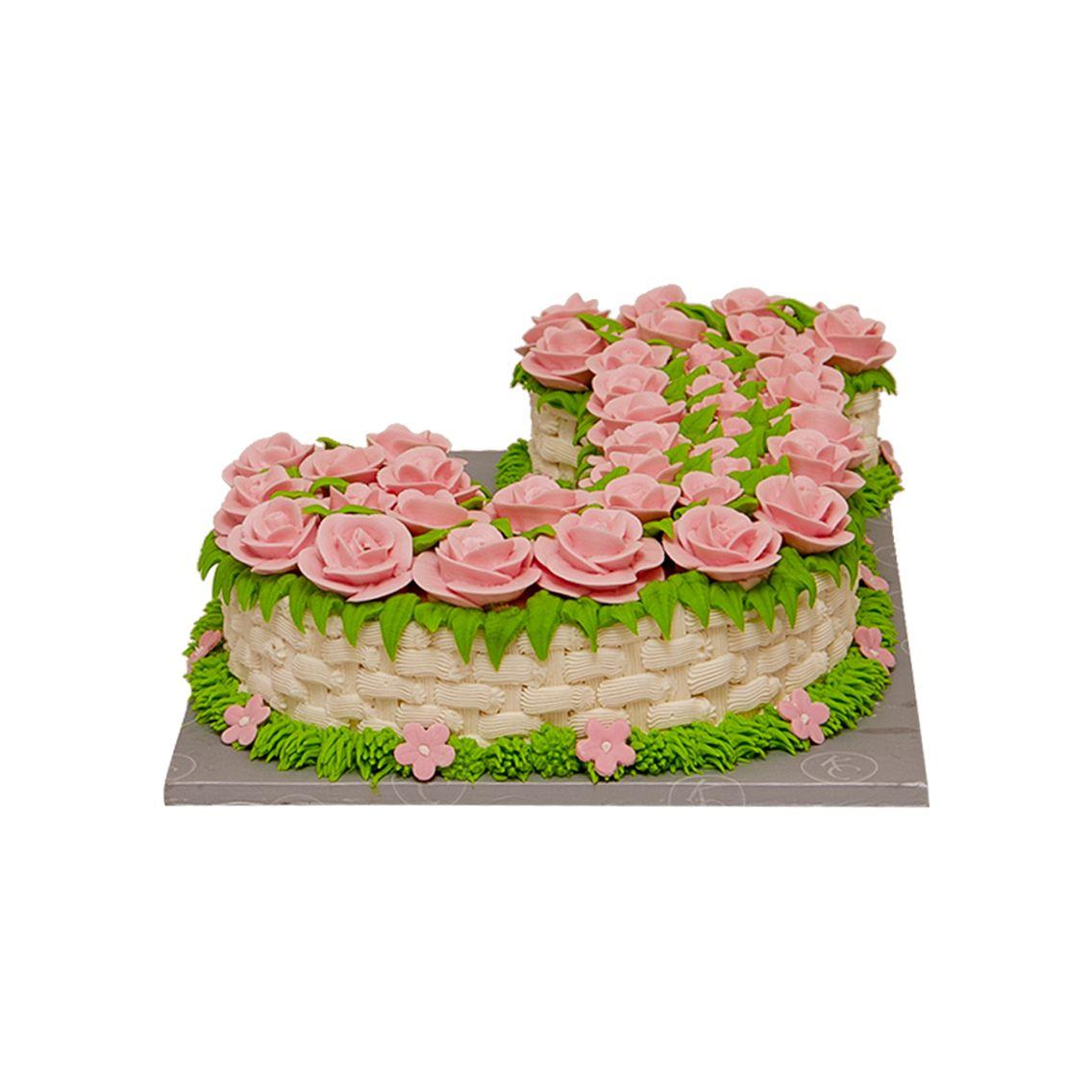 Kitchen Cuisine Default Category Alphabet Shape Flowers Cake