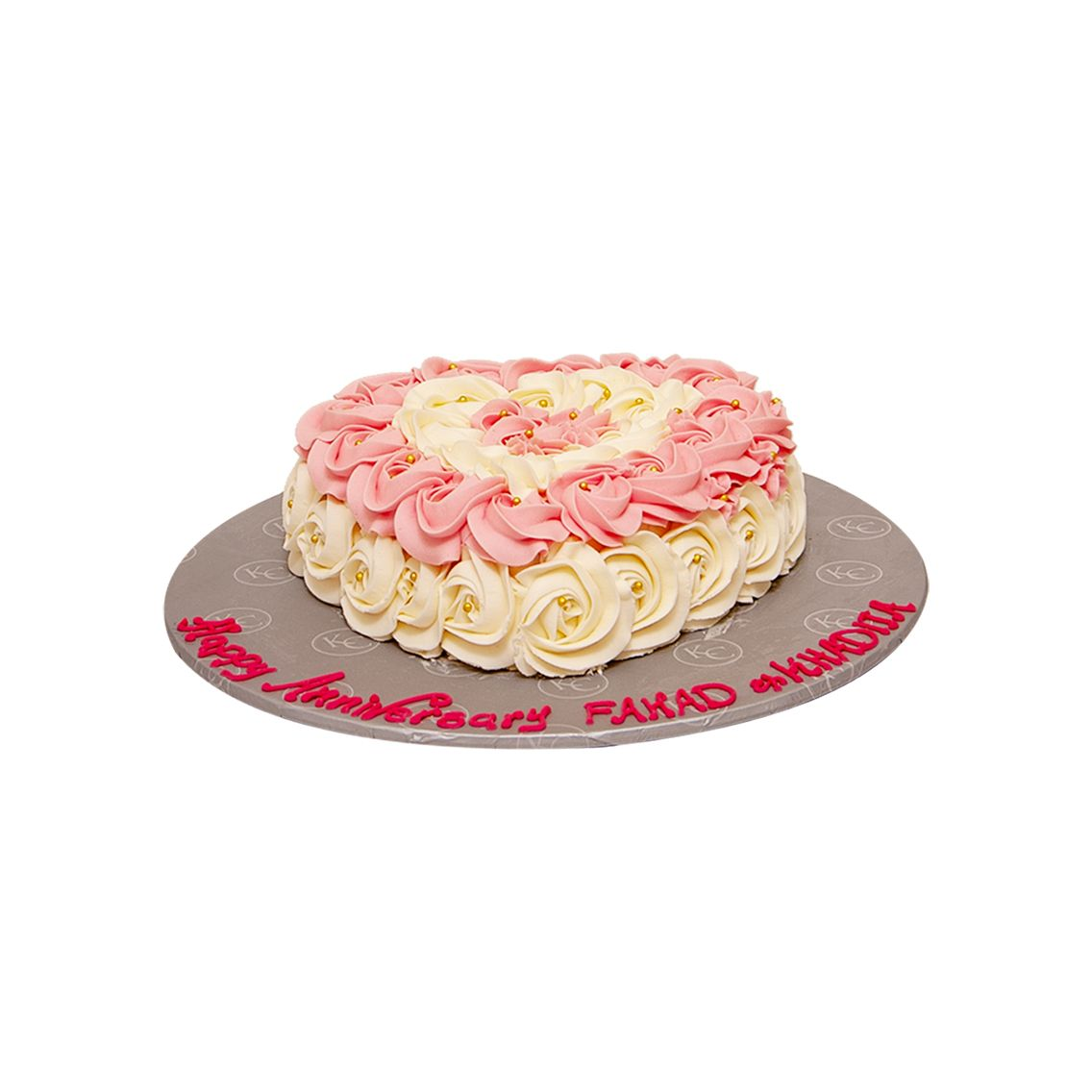 Kitchen Cuisine Default Category Pink & White Rosette Cake