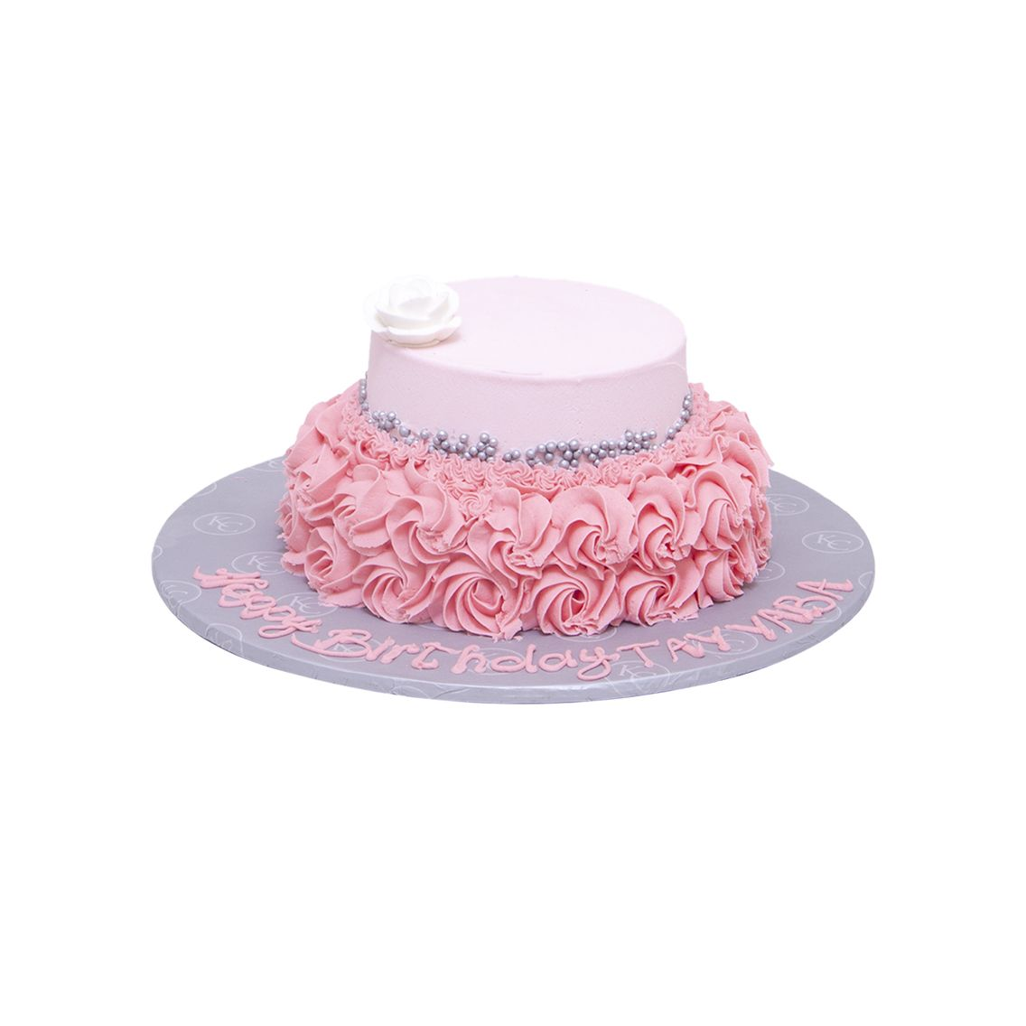 Kitchen Cuisine Default Category Pink Rosette with Pearls Cake