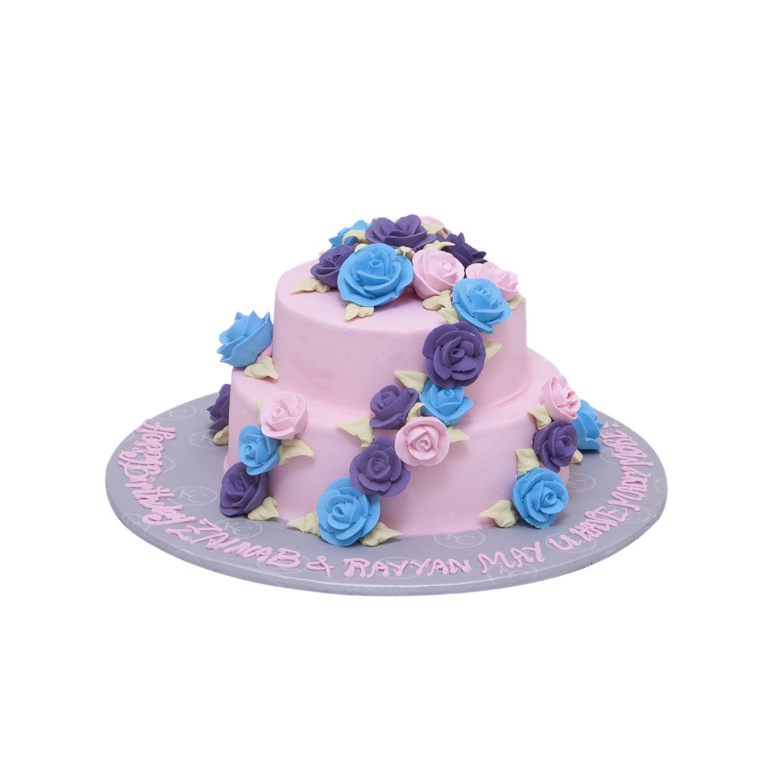 Kitchen Cuisine Default Category Blue & Pink Flower Cake