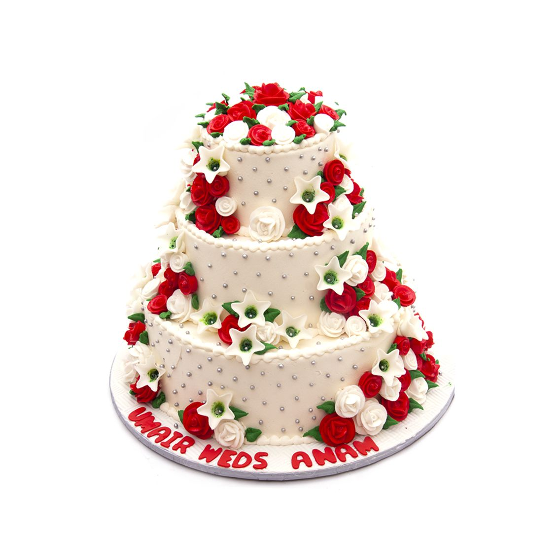 Kitchen Cuisine Default Category Red & White Wedding Cake