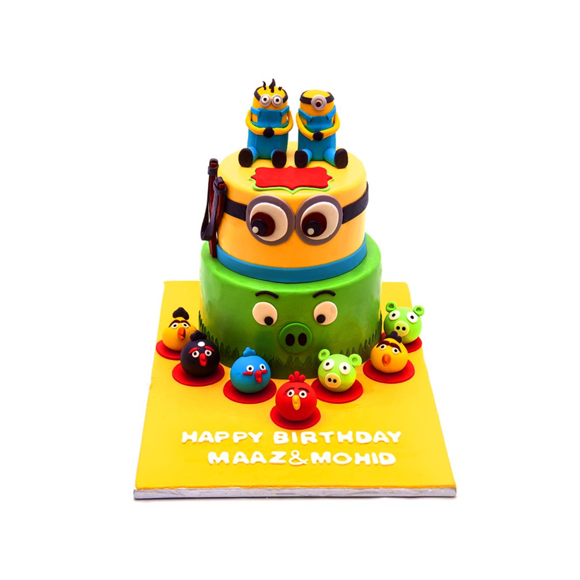 Kitchen Cuisine Default Category Minion & Angry Bird Cake
