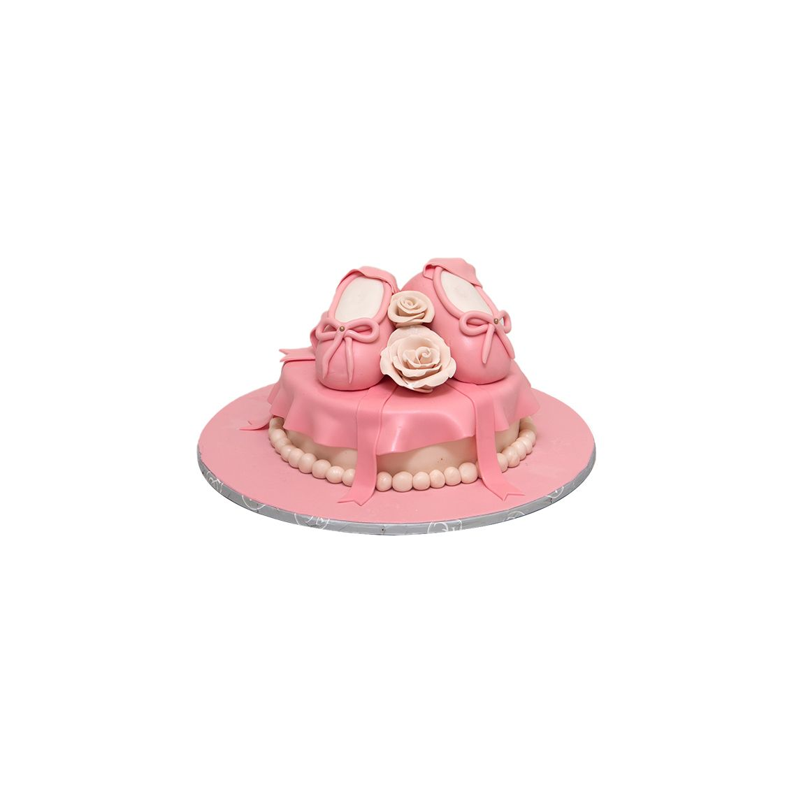 Kitchen Cuisine Default Category Pink Shoes & Flowers Cake
