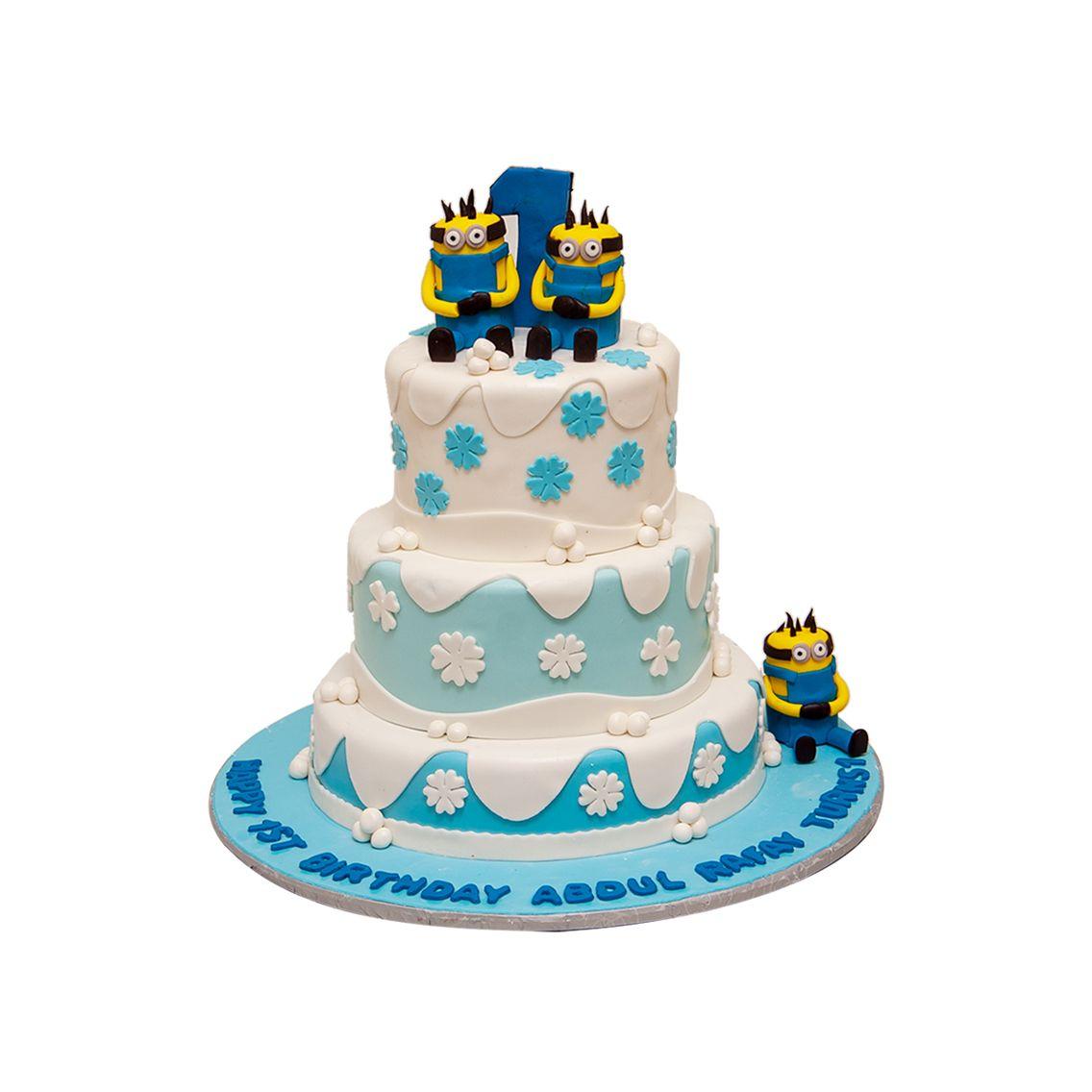 Kitchen Cuisine Default Category Minion with Frozen Theme Cake