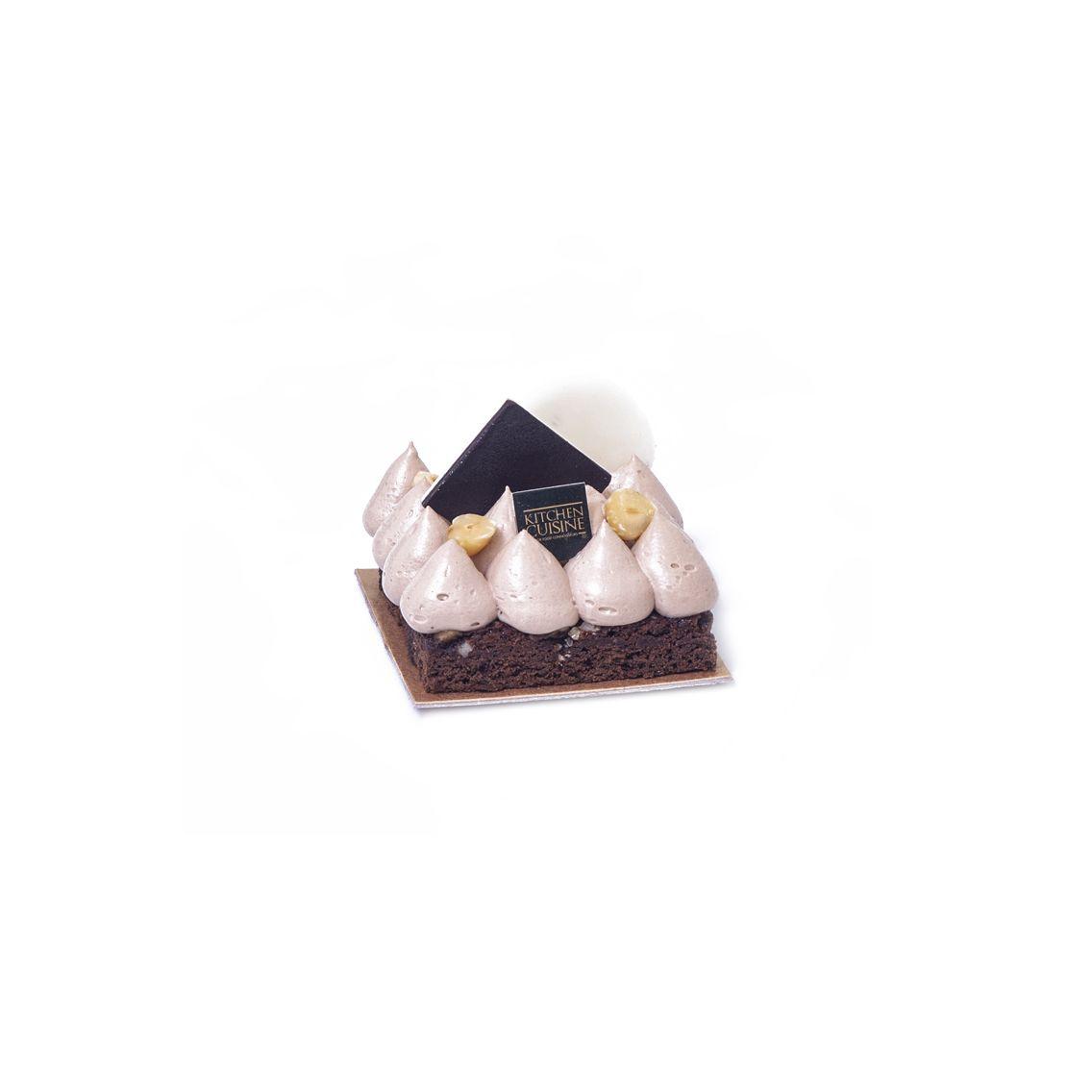 Kitchen Cuisine Default Category Fudge Brownie With Hazelnut Mousse