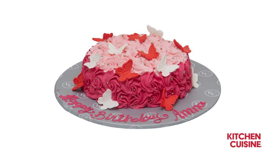 Kitchen Cuisine Default Category Rosette & Butterfly  Cake