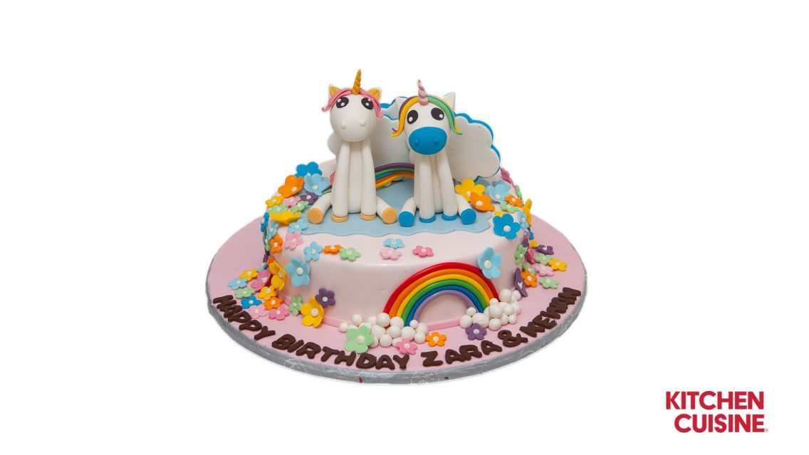Kitchen Cuisine Default Category Unicorn & Flowers Cake