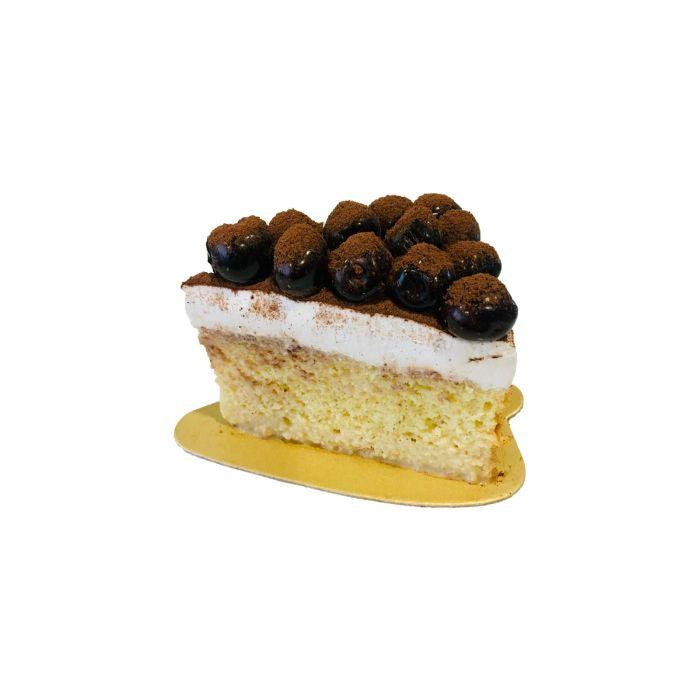 Cherry Tres Lechese Cake Slice